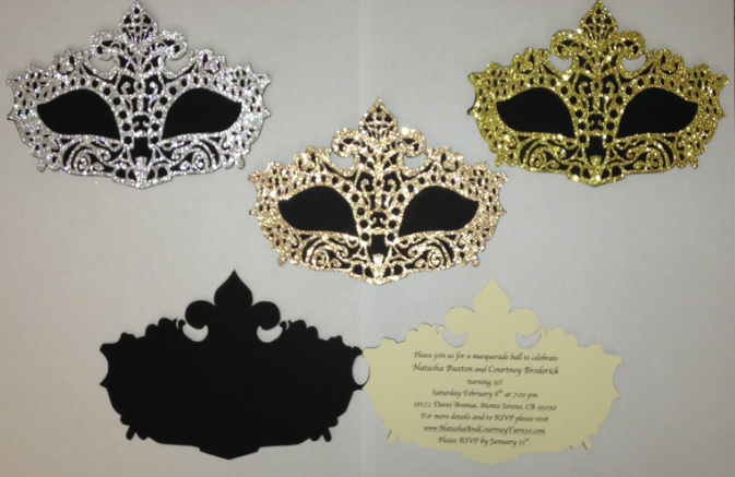30th birthday masquerade invites! - What's happening with Mrs ...